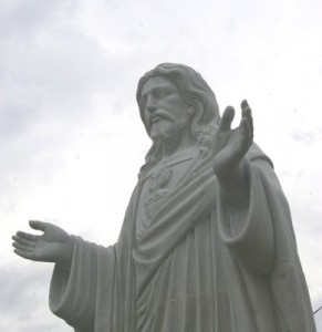 Statue on New Church Site