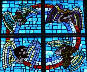 Inside Our Church Stained Glass Window the Four Evangelists